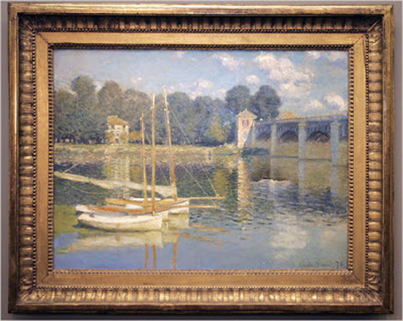 Vandals punch hole in priceless monet