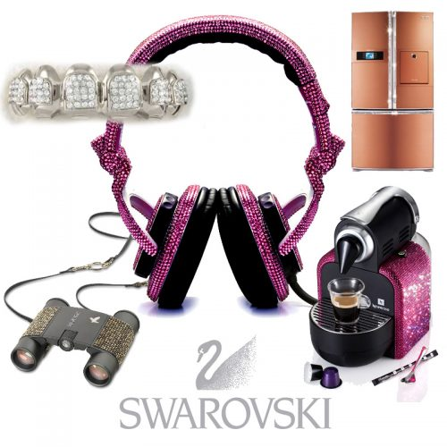 Read more about the article Swarovski Studs Anything That Stands Still. From Bandaids to Bathroom Sinks, Crystallized Items.