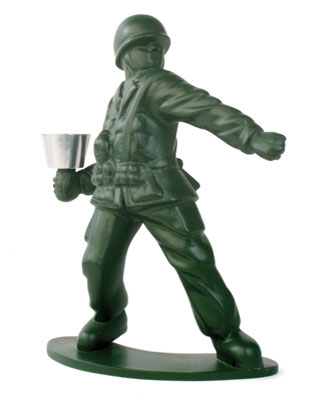 chris collicott toy soldier candleholder