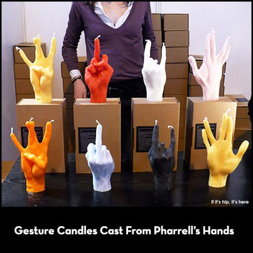 Hand Gesture Candles from Atelier WM
