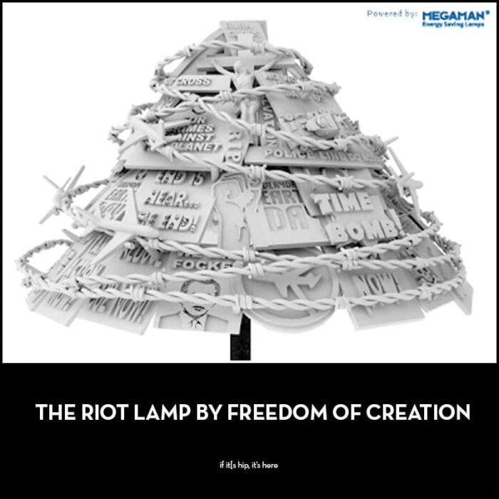The Riot Lamp by Freedom Of Creation