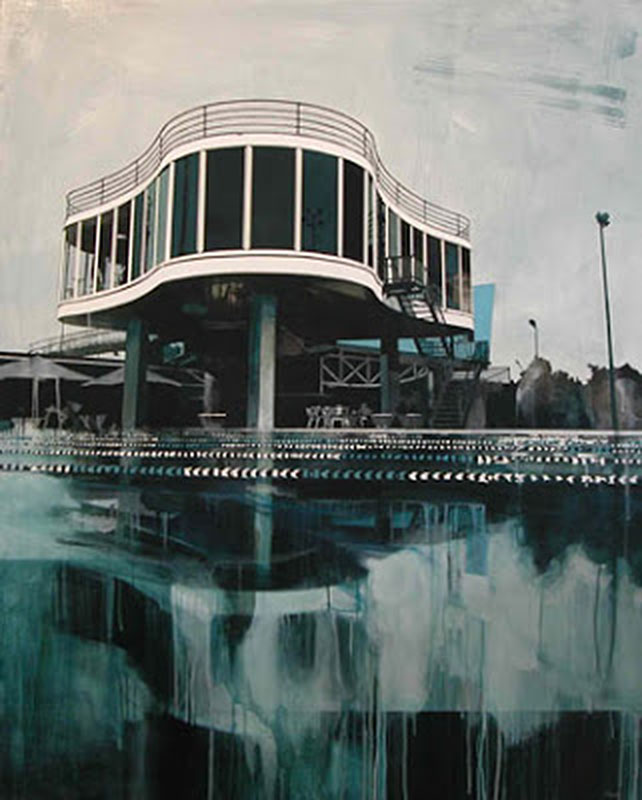 The art of paul davies combines architecture pools palms for Pool show brisbane