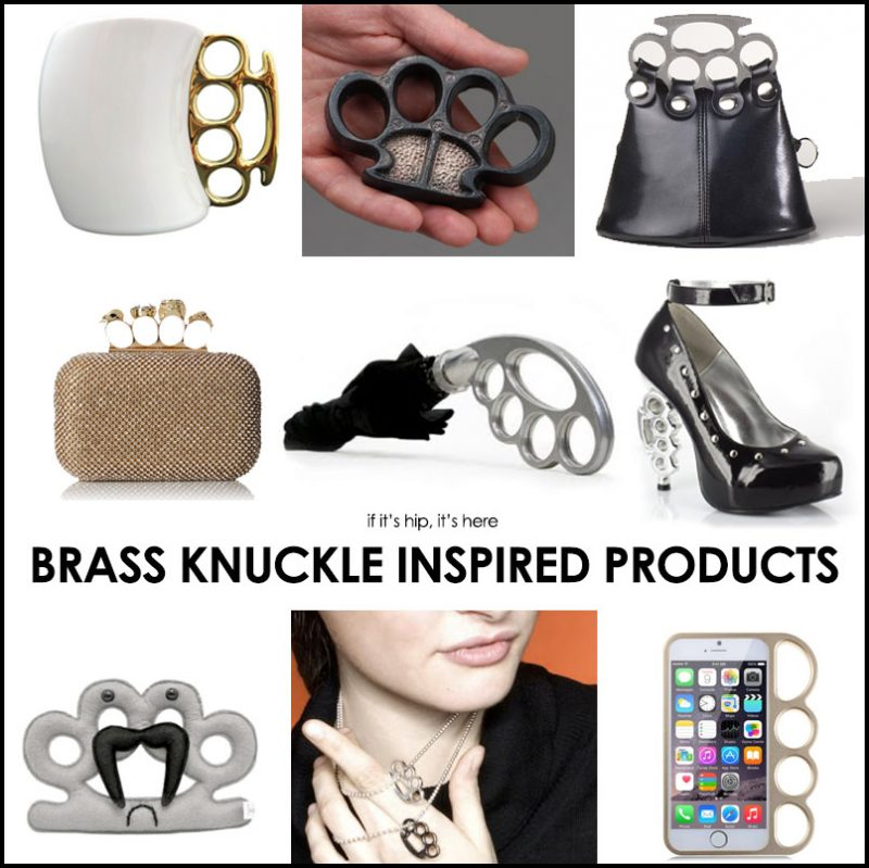 Brass knuckle inspired products