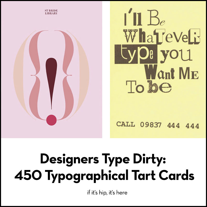 Typographical Tart Cards