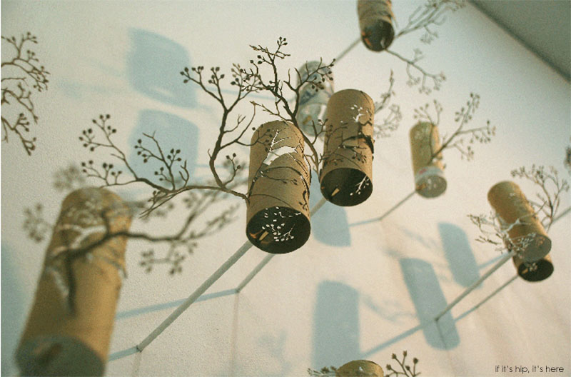 With artist yuken teruya trees come from paper not the for How to make a tree out of toilet paper rolls