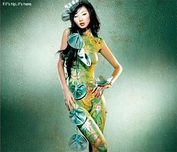 Lily Pad body-painting-cheong-sam-images