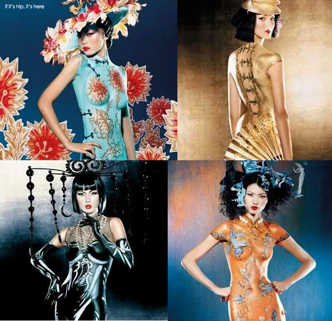 M.A.C. Chinese Dress Body Painting