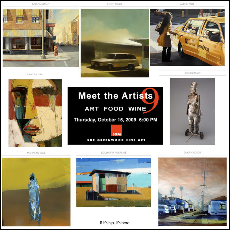 meet the artists 9 at Sue Greenwood gallery