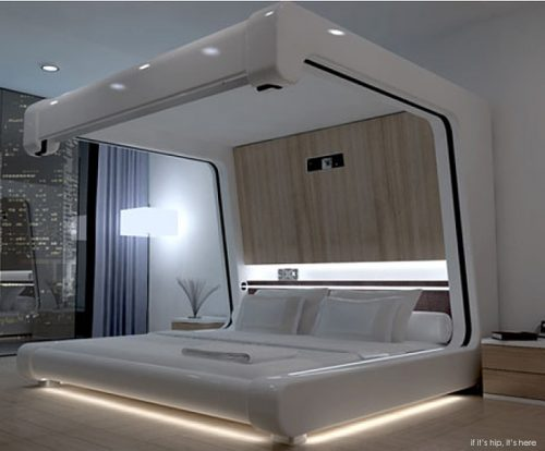 Read more about the article Sleep Like A Roman God In Somnus-Neu, A Modern Multimedia Bed From Yoo Pod.
