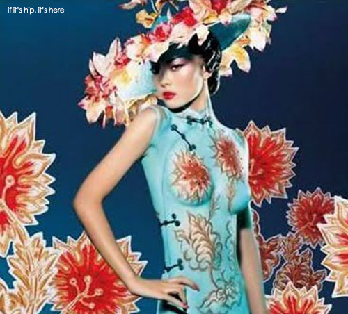 More Stunning Body Painting: The M.A.C. Chinese Dress