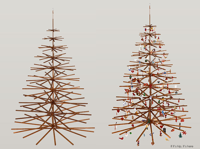 The Top Modern Wood Christmas Trees - if it's hip, it's here