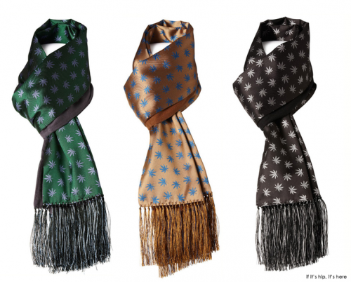 Read more about the article For The 420-Friendly Fashionista; Silk Marijuana Scarves by Peckham Rye