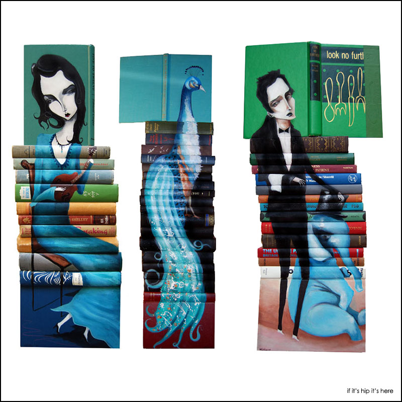 mike stilkey book cover sculptures