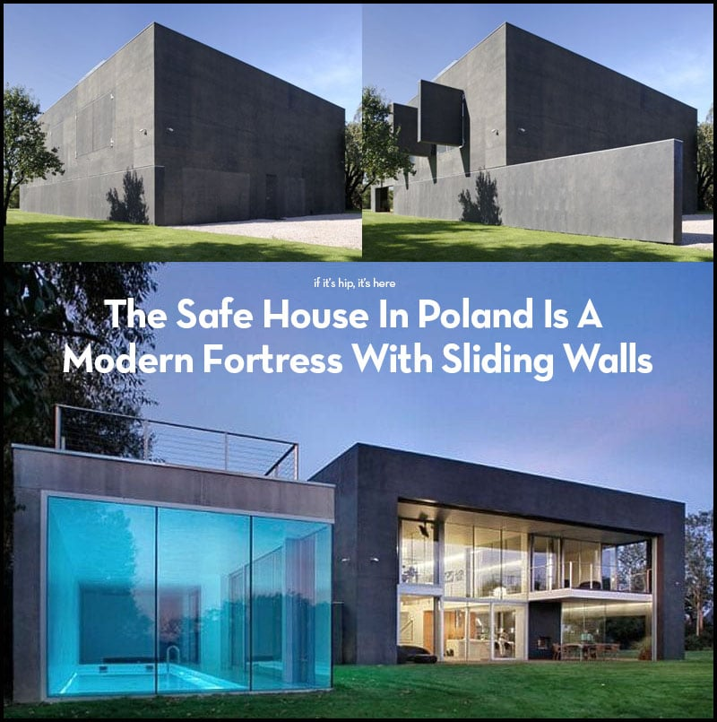 Modern Fortress With Sliding Walls
