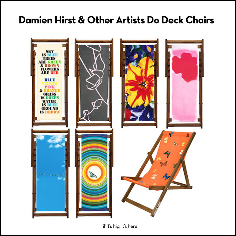 damien hirst and other others do deck chairs