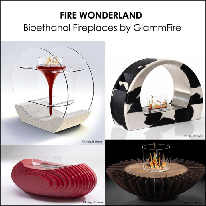 These Babies Are HOT! Decorative Bioethanol Fireplaces By GlammFire.
