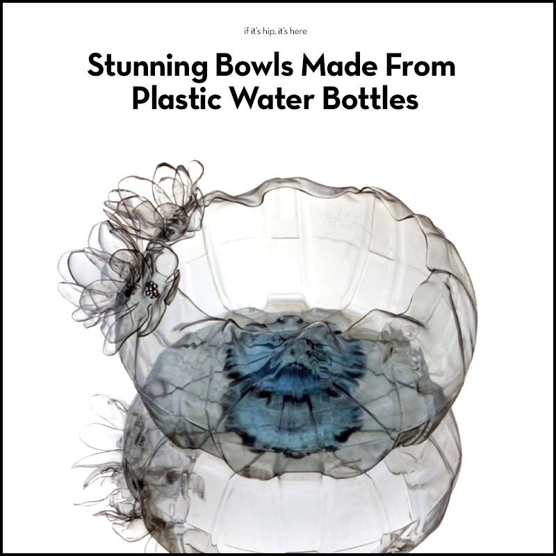 plastic bowls made from water bottles