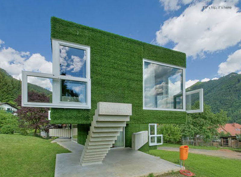 Astroturf Covered Concrete House