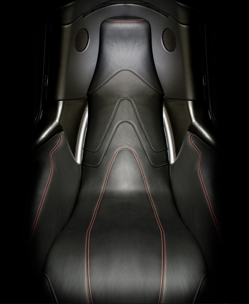 leather seat in pod