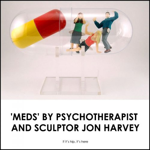 Read more about the article A Prescription For Art. 'Meds' by Psychotherapist and Sculptor Jon Harvey.