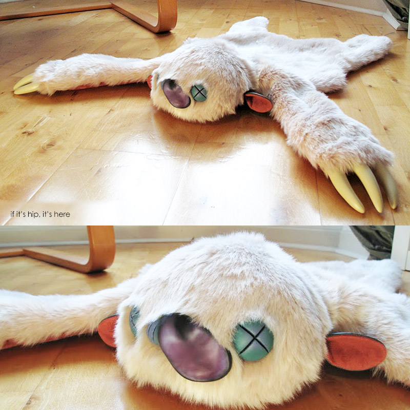 Stitches and Glue Monster rugs