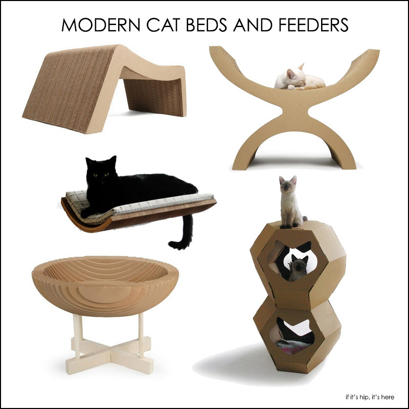 Fabulous Finds For The Fancy Feline Modern Beds And Bowls