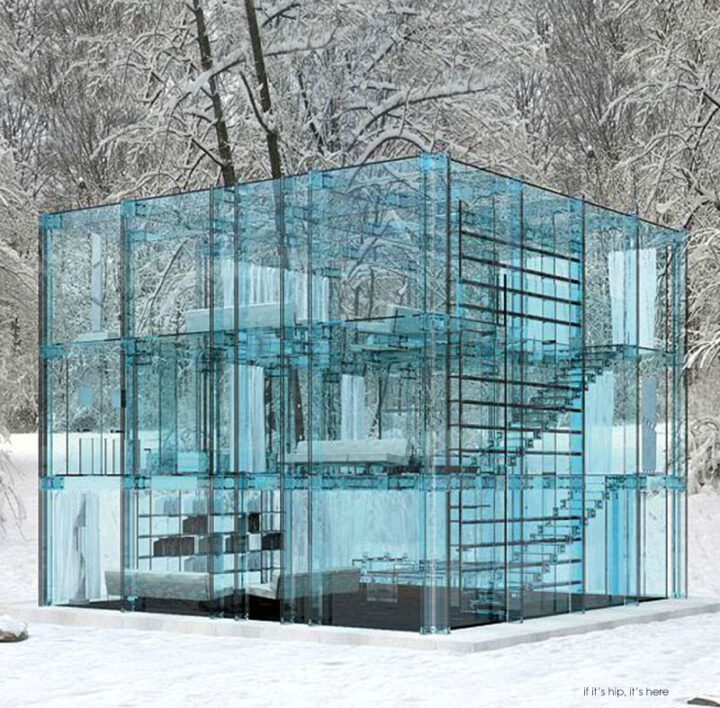 I Dare You To Throw A Stone. Glass Houses and Furniture by Carlo Santambrogio and Ennio Arosio.