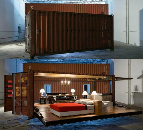 Read more about the article Container Homes That Open In 90 Seconds. Push Button Houses by Adam Kalkin.