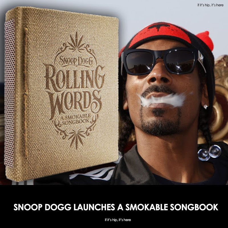 Snoop Dogg launches smokable songbook