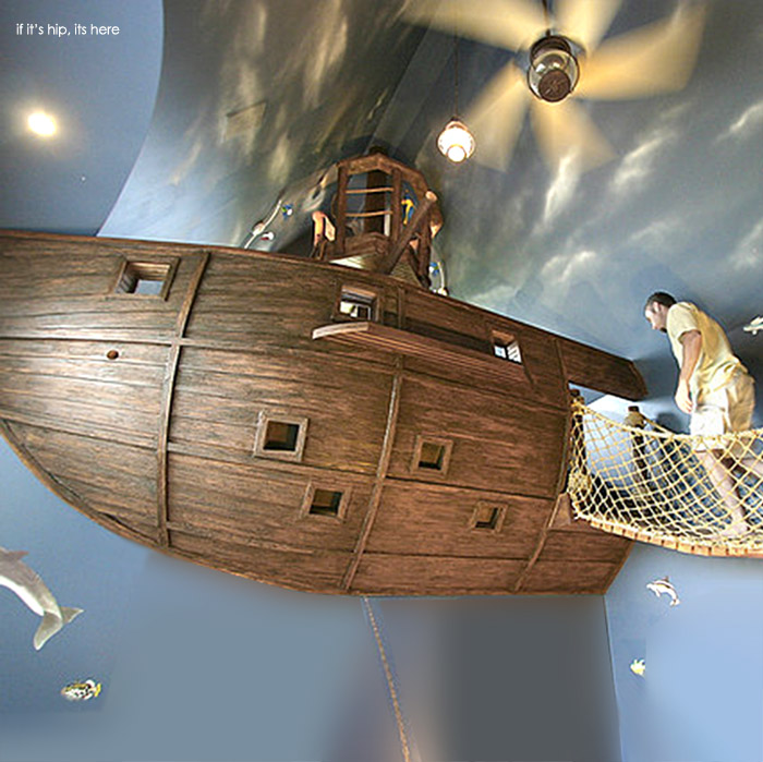 Pirate Ship Room Climbing Cave Turn A Home Into A Playhouse