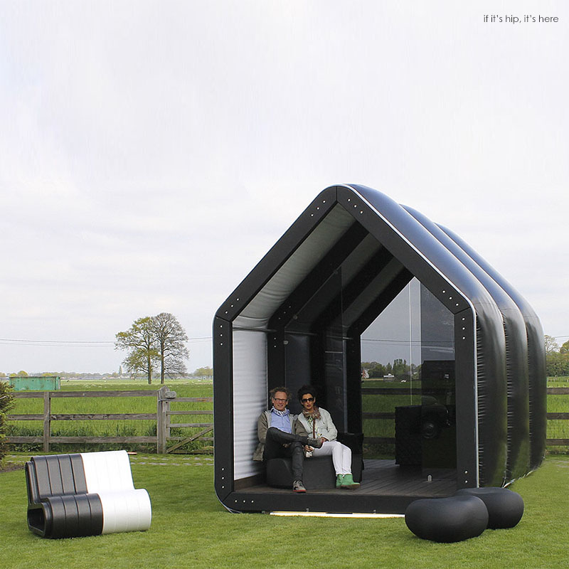 Inflatable pods pop up for commercial and residential use for Mother in law pods