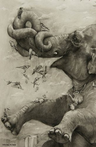 Read more about the article The 2012 ArtPrize Winner Adonna Khare And A Close Look At Her Mural.