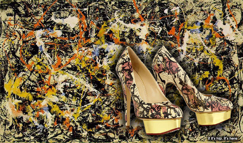 pollock+painting+and+shoes