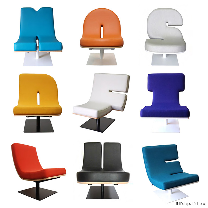 Typographic Furniture. Chairs That Talk And Lamps That Punctuate.   If Itu0027s  Hip, Itu0027s Here Idea