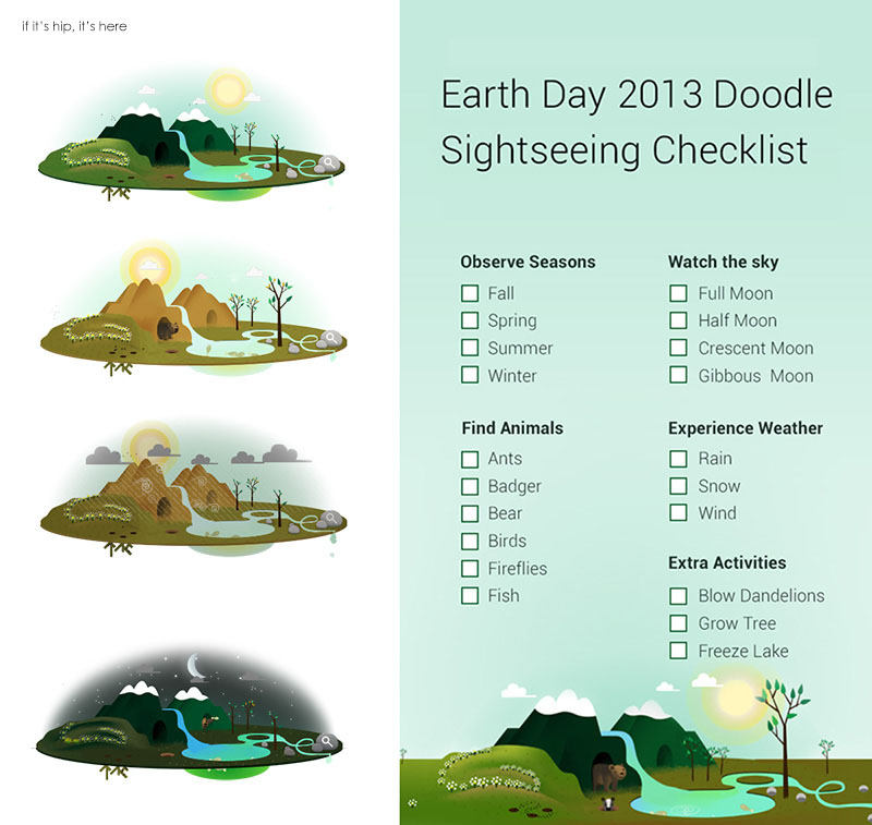 interactive earth day google doodle