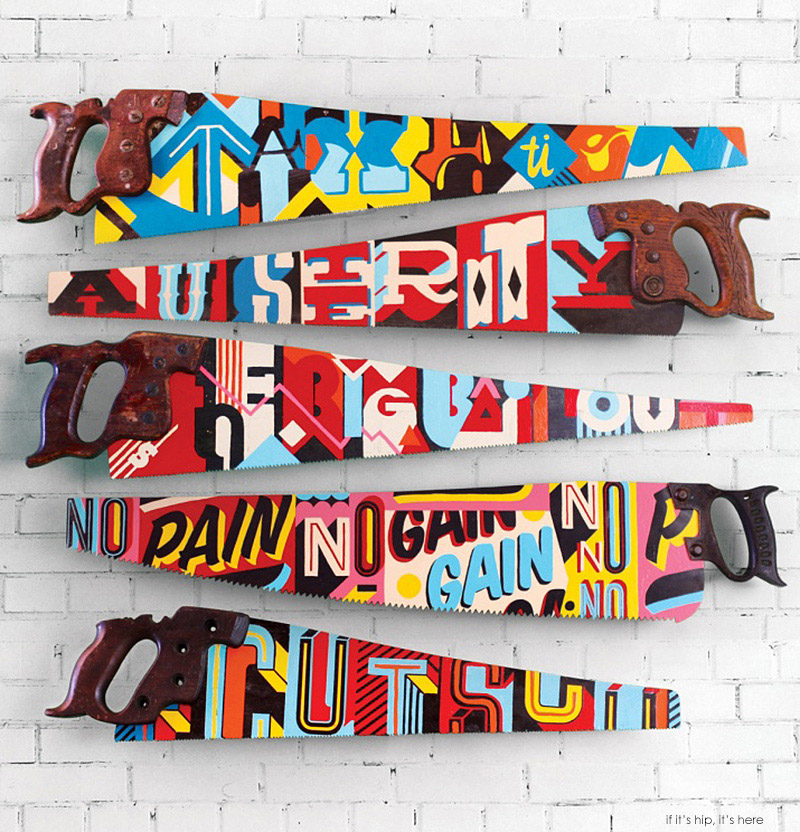 hand painted saws