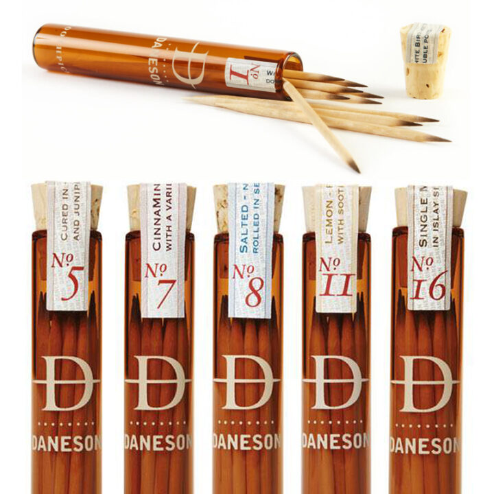 Chew On This: Upscale Flavored Toothpicks From Daneson Include 200 Year Old Single Malt Scotch.