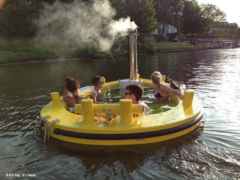 The Hottug A Motorized Floating Wood Fired Hot Tub If