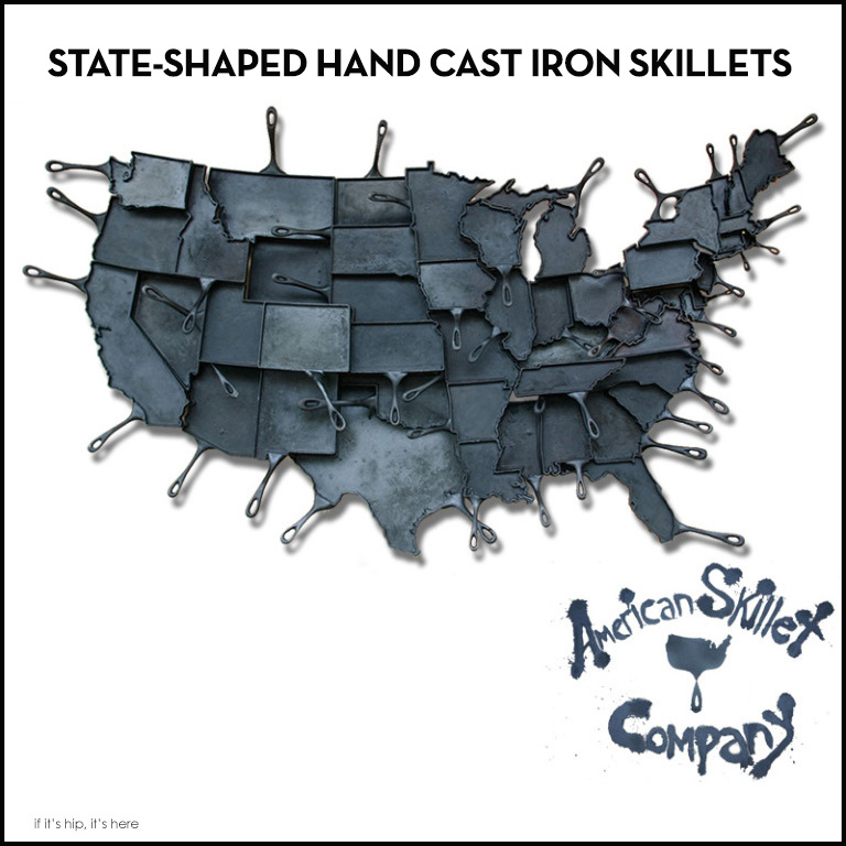 American Skillet Co State Shaped Cast Iron