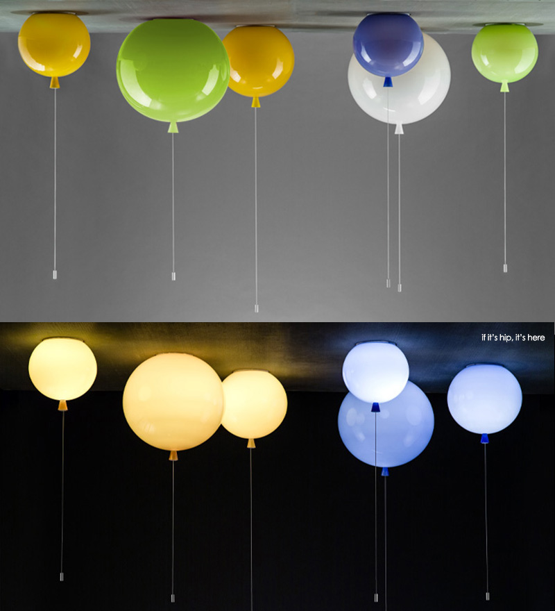 Glass Balloon Ceiling And Wall Lamps Add A Festive Touch