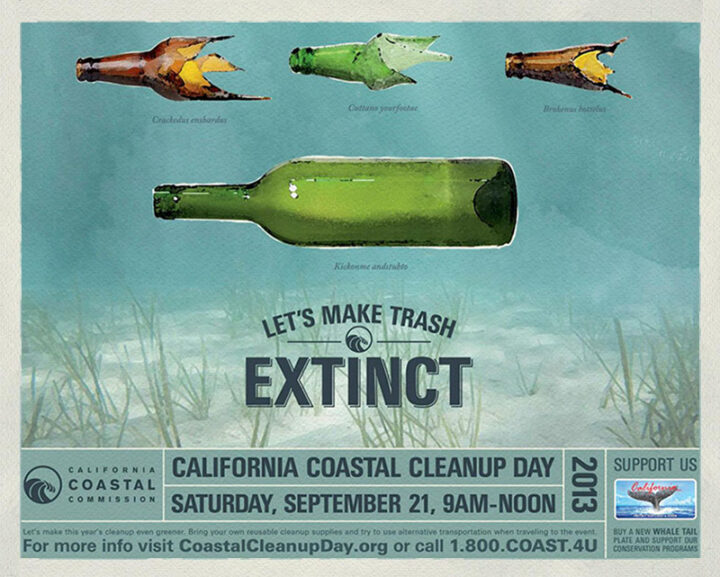Beautiful Creative Encourages You To Beautify Our Beaches For California's Coastal Cleanup Day.