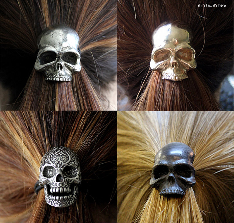 skull ponytail holders by Michael R. Doyle
