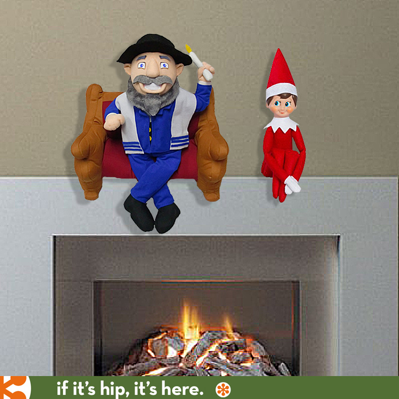 Mensch On A Bench Gives Elf On A Shelf Some Company If