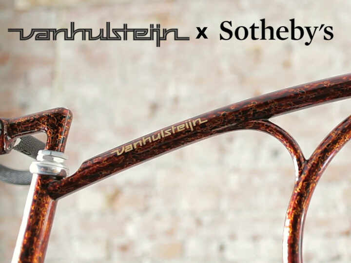 Vanhulsteijn Designs 9 Special Edition Japanese Lacquer and Gold Leaf Bikes for Sotheby's.