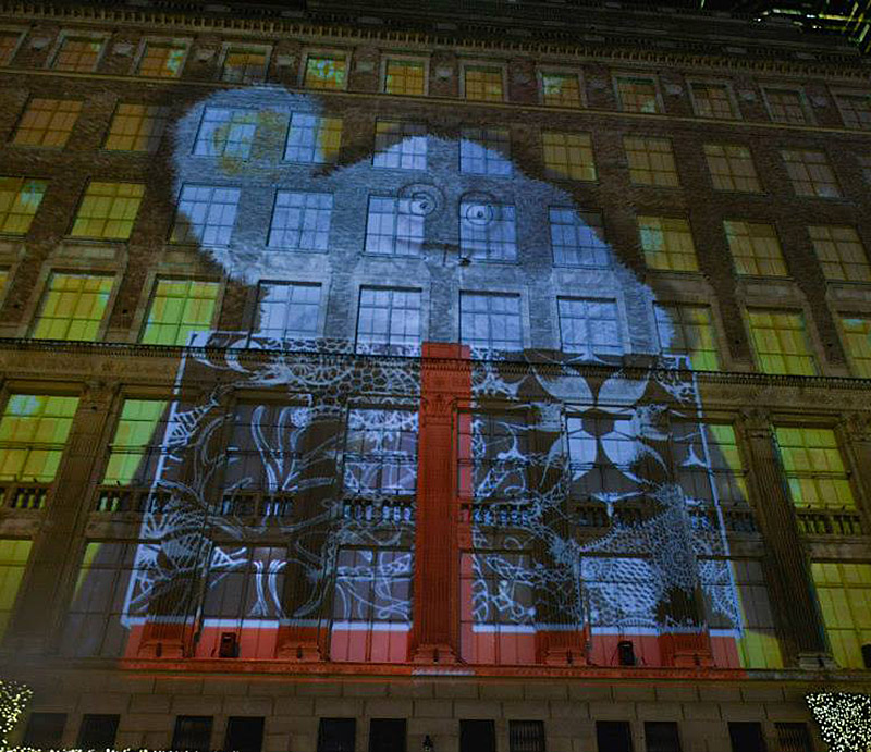 Saks Fifth Avenue Holiday Light Projection and Windows