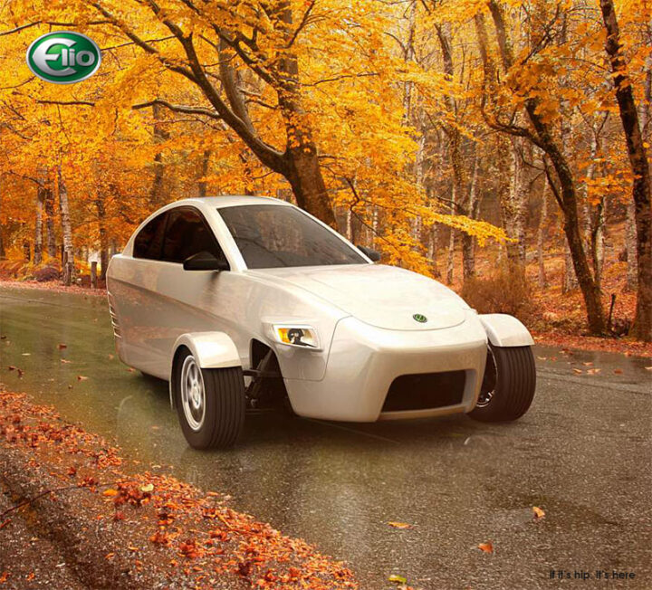 The Elio: An Eco-Friendly, Revolutionary 3-Wheeled Vehicle Hits The Road.