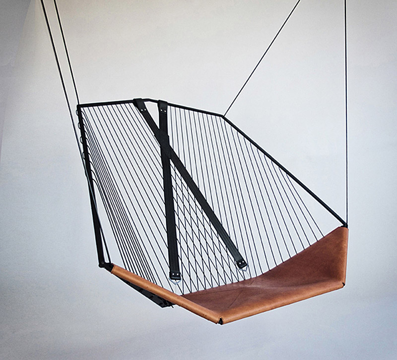 The Solo Cello, A Modern Steel And Leather Hanging Chair By Felix Guyon.    If Itu0027s Hip, Itu0027s Here
