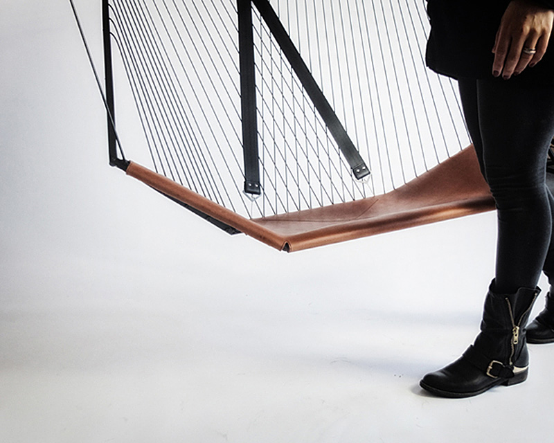 The Solo Cello A Modern Steel And Leather Hanging Chair