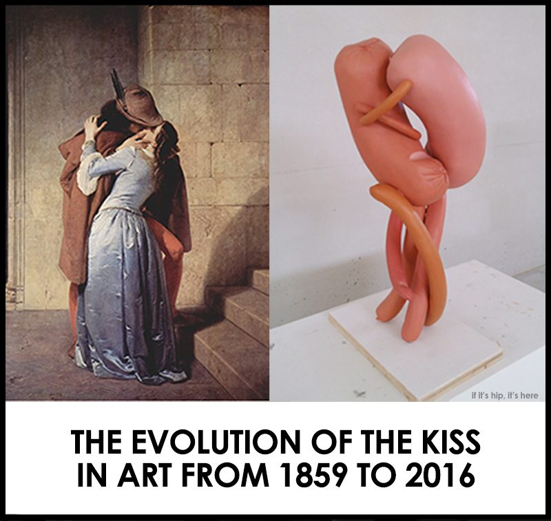 the evolution of the kiss in art