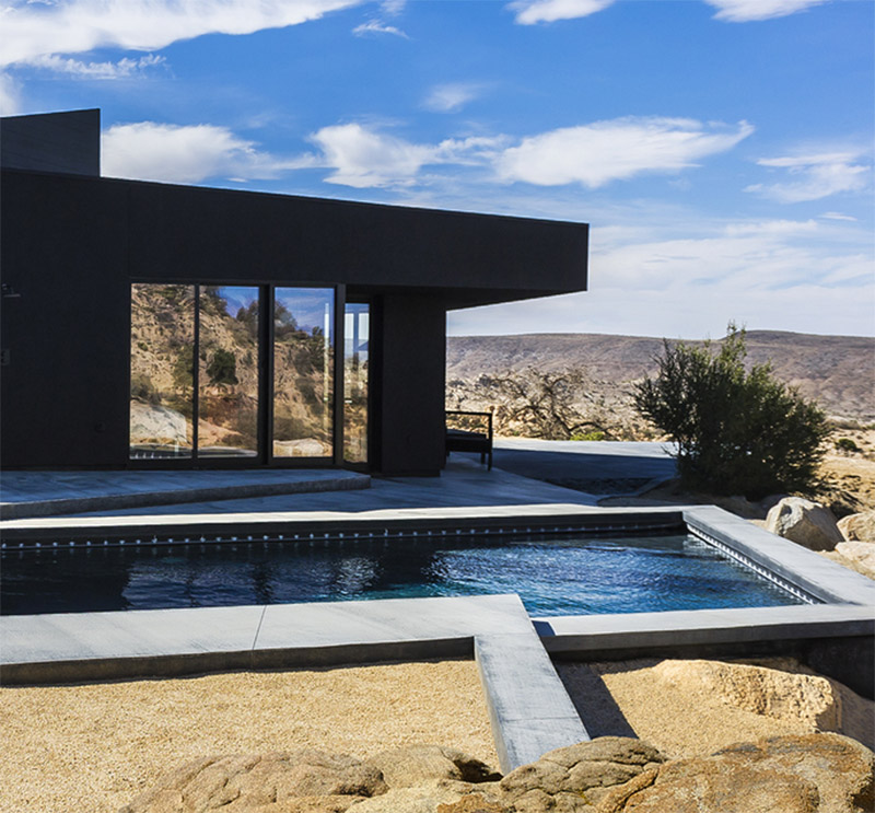 Country Kitchen Yucca Valley: The Black Desert House By Marc Atlan In Yucca Valley